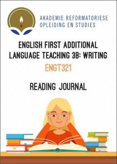 ENGT 321 Reading Journal