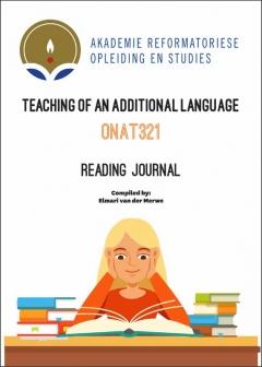 ONAT 321 Reading Journal
